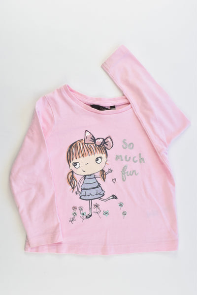 George Size 1-2 (86-92 cm) 'So Much Fun' Top