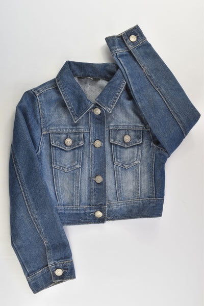 George Size 6-7 (116-122 cm) Love Hearts Buttons Denim Jacket
