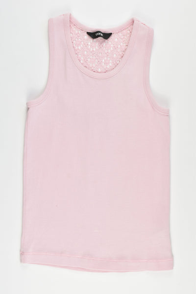 George Size 6 Tank Top with Lace Detail