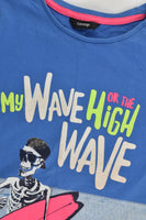 George Size 9-10 (135-140 cm) 'My Wave Or The High Wave' T-shirt