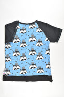 Gingham and Lace (Australia) Size 10 Raccoon T-shirt