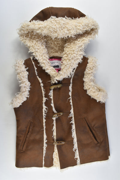 GJK-Mamba Size 11/12 Sherpa Leather Look Sleeveless Jacket