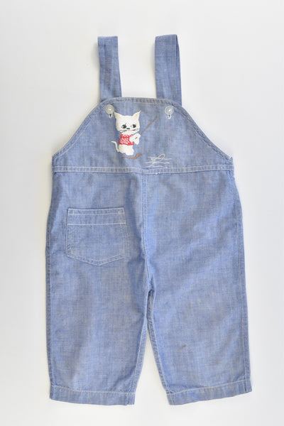 Golden Horse Size approx 00 Vintage Style Kitty Soft Denim-like Overalls