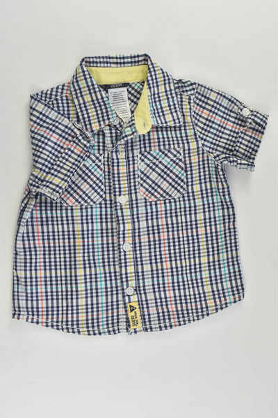 Guess Size 0 (6/9 months) Checked Shirt