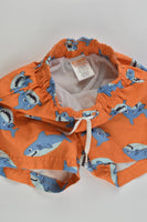 Gymboree Size 0 (6-12 months) Sharks Board Shorts