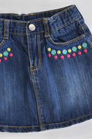 Gymboree Size 5 Denim Skirt with Shorts Underneath