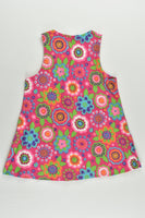 Handmade Size approx 0-1 Stretchy Colorful Flowers Cord Dress
