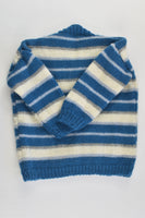 Handmade Size approx 0-1 Striped Warm Woolly Cardigan