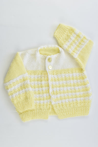 Handmade Size approx 00-0 Knitted Cardigan