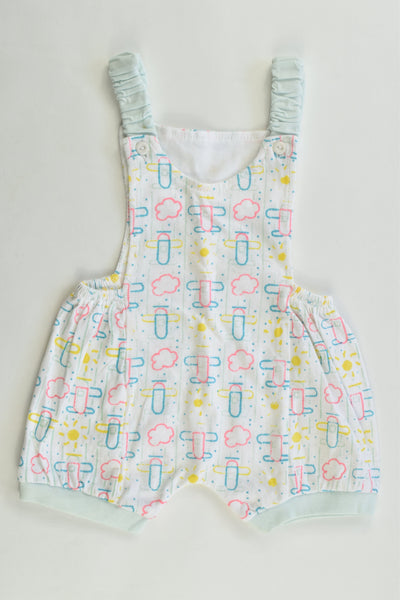 Handmade (?) Size approx 000 Vintage Style Airplanes Short Overalls