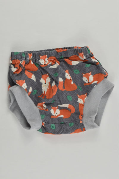 Handmade Size approx 0000 Foxes Nappy Cover