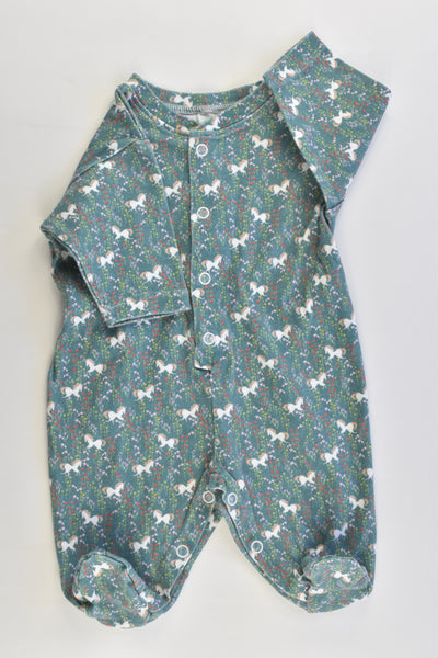 Handmade Size approx 0000 Unicorns Footed Romper