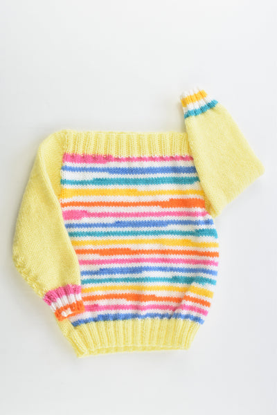 Handmade Size approx 1 Colorful Stripes Knitted Jumper