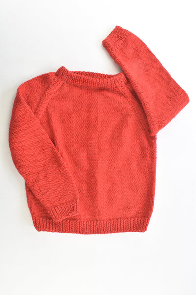 Handmade Size approx 4 Knitted Jumper