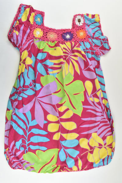 Handmade Size approx 6-7 Colourful Dress