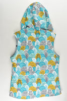 Handmade Size approx 8-10 Horses/Trees Reversible Hooded Vest