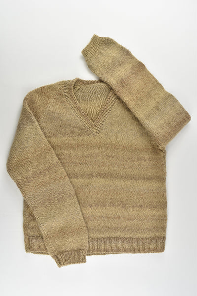 Handmade Size approx 8-10 Warm Knitted Jumper