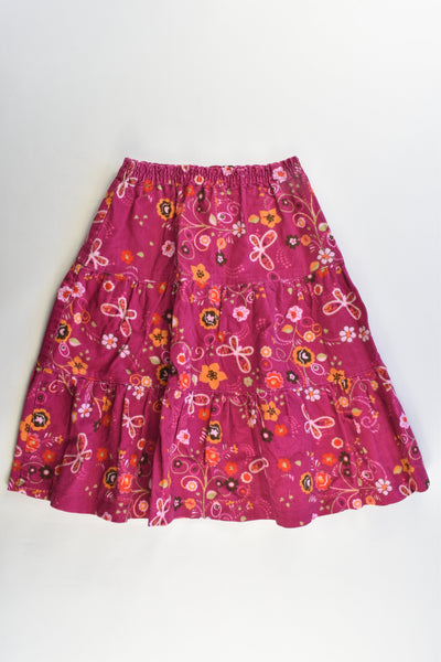 Handmade Size approx 8 Floral Cord Skirt
