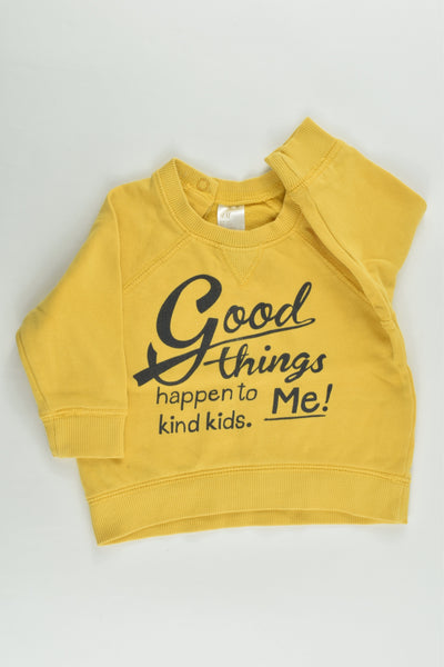 H&M Size 00 (68 cm) 'Good Things Happen To Kind Kids - Me' Sweater