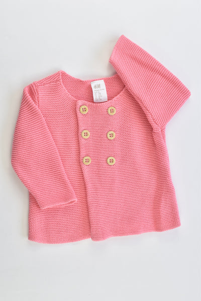 H&M Size 000 (56 cm) Organic Cotton Knitted Cardigan