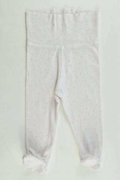 "H&M Size 000 (62 cm, 2-4 months) ""New Arrival"" Dotted Footed Pants"