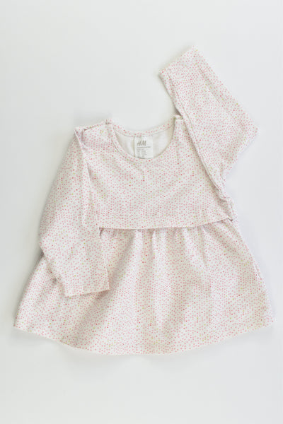 H&M Size 000 (62 cm, 2-4 months) Organic Cotton Dress