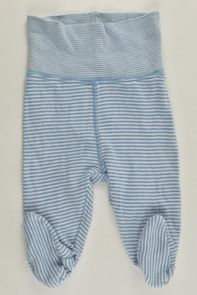 H&M Size 0000 (50 cm) Striped 'New Arrival' Footed Pants