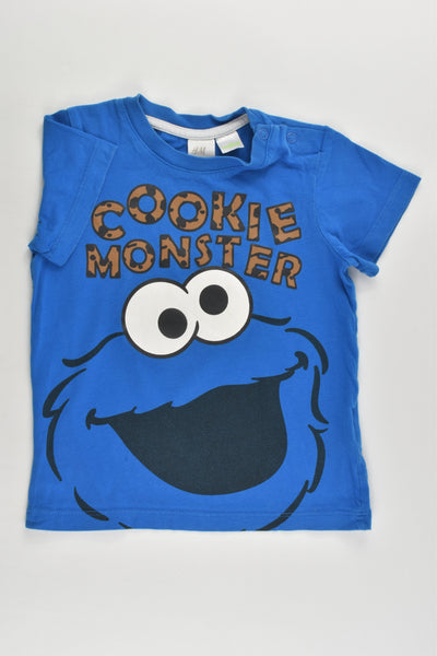 H&M Size 1 (12-18 months) 'Cookie Monster' T-shirt