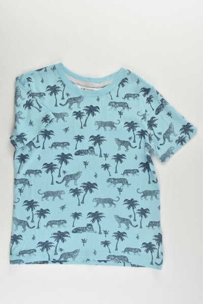 H&M Size 5-6 (110/116 cm) Tigers and Leopards T-shirt