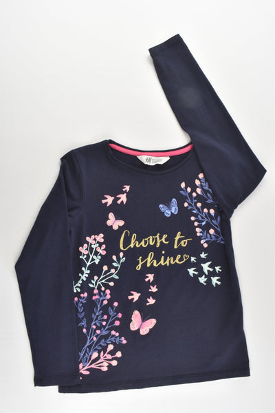 H&M Size 7-8 (122/128 cm) 'Choose To Shine' Top