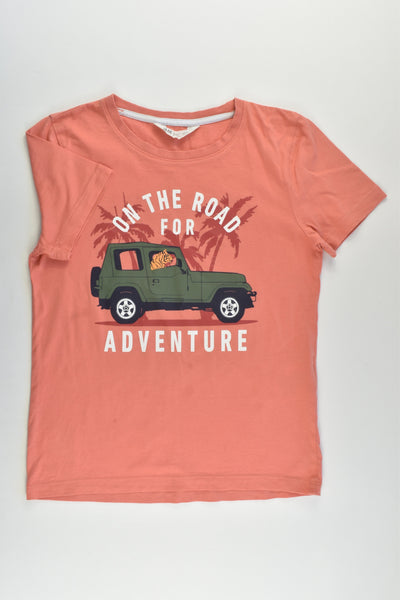 H&M Size 9-10 (134/140 cm) 'On The Road For Adventure' T-shirt