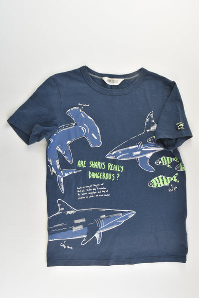 H&M Size 9-10 'Are Sharks Dangerous?' T-shirt