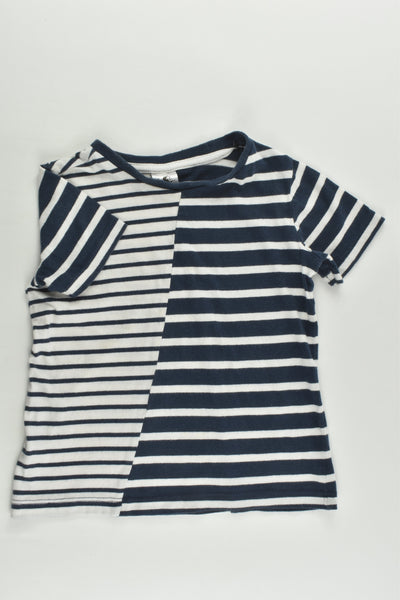H&T Size 2 Striped T-shirt