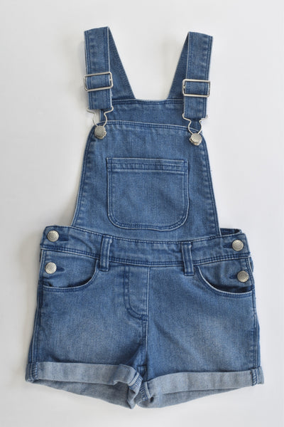 H&T Size 4 Stretchy Denim Short Overalls