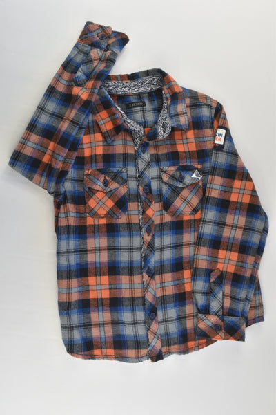 Ikks Size 5 (108 cm) Checked Winter Shirt