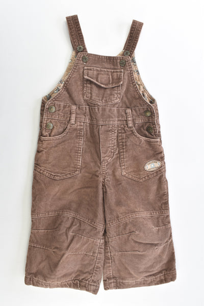 Impidimpi Size 0 (74 cm) 'Caution Roadworks' Lined Cord Overalls