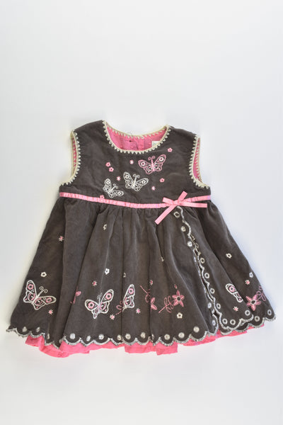 Jack & Milly Size 000-00 Lined Soft Cord Dress
