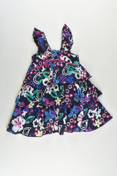 Jack & Milly Size 1 Floral Ruffle Dress