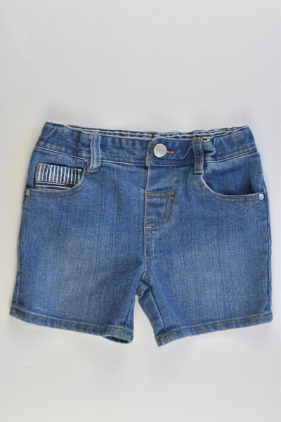 Jeanswest Jnr Size 6-12 months Soft and Stretchy Denim Shorts