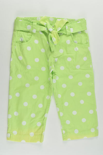 JK Kids (NZ) Size 5 Polka Dots Capri Pants