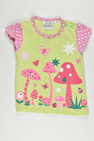 JKbaby (New Zealand) Size 9-12 months (0) Mushrooms T-shirt