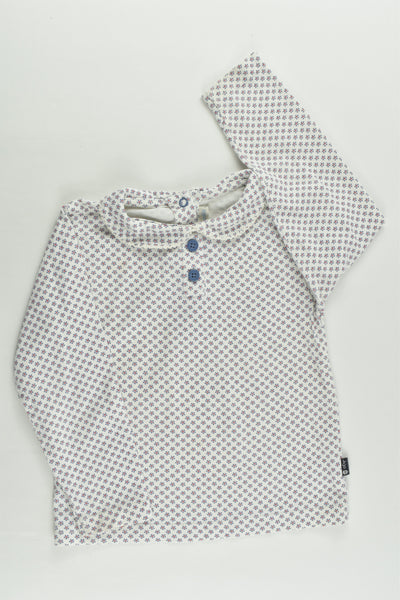 JoJo Maman Bébé (UK) Size 2-3 Collared Floral Top