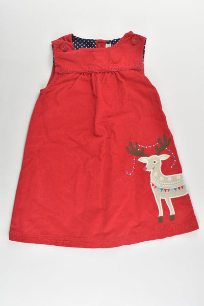 JoJo Maman Bébé (UK) Size 2-3 Lightweight Reindeer Cord Dress