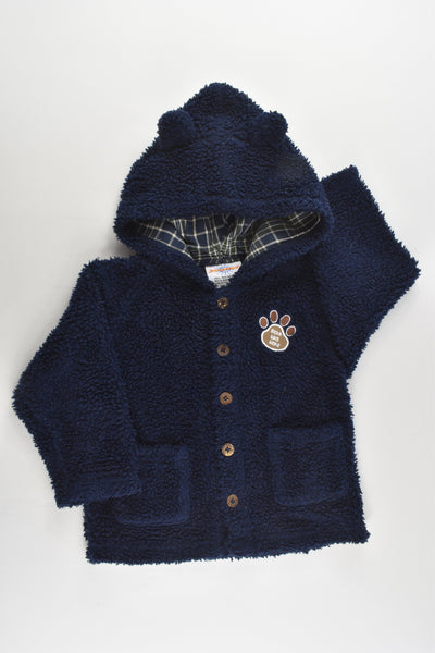 Jumpstart Size 1 (18 months, 86 cm) Vintage 'Bear Was Here' Lined Hooded Jumper/Jacket