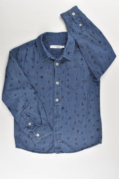 Junior by David Jones Size 6-7 Lightweight Casual Collared Denim Shirt