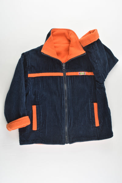 Ka-Boosh Size 4 Warm Navy Cord/Orange Fleece Jacket