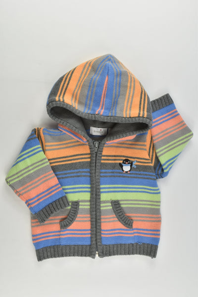 Kaboosh Size 00 (3-6 months, 68 cm) Knitted Striped Hooded Penguin Jumper