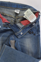 Kanz (Germany) Size 2 (92 cm) Stretchy Denim Pants with Floral Details