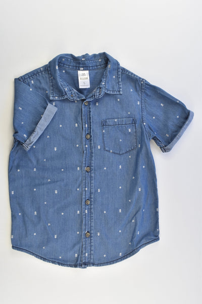 Kids & Co Size 5 Lightweight Casual Denim Shirt
