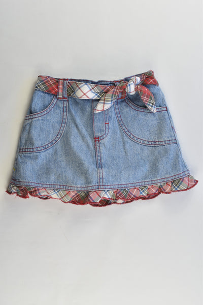 Kids Headquarters Size 4 Vintage Denim Skirt with Shorts Underneath